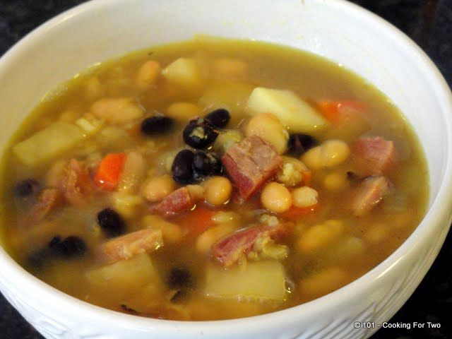 Christmas Soup.Puerto Rican Ham Bone Soup