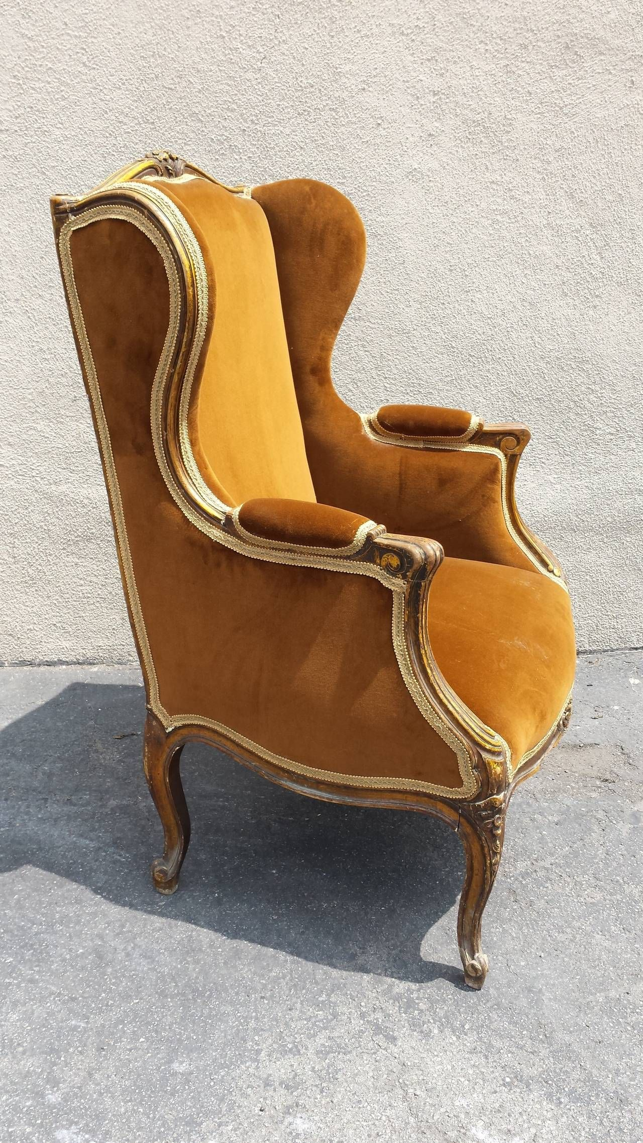 French Chair French Louis XV Style Bergere Armchair & French Chair French Louis XV Style Bergere Armchair | Armchairs ...