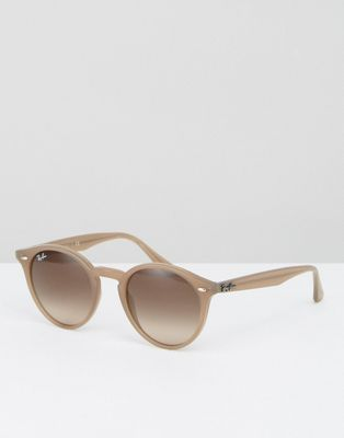 ce8d95d33aa1d Ray Ban Round Sunglasses in Taupe