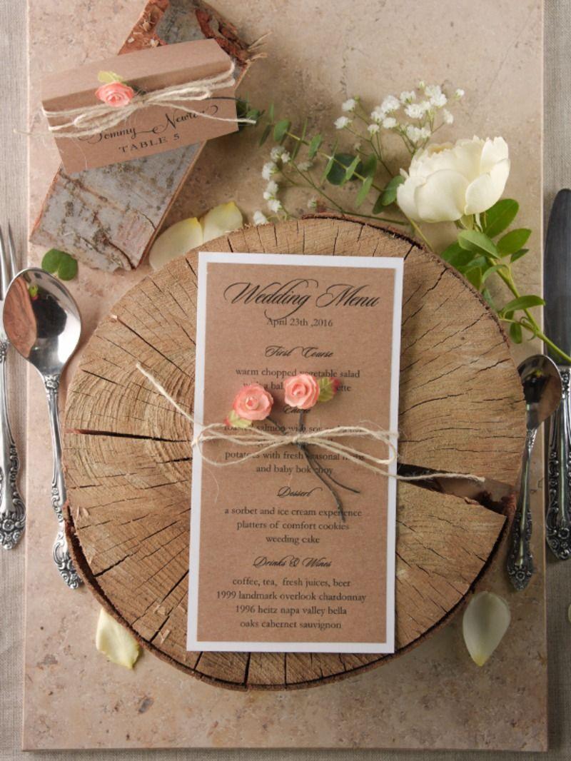 Wedding Menu- rustic style