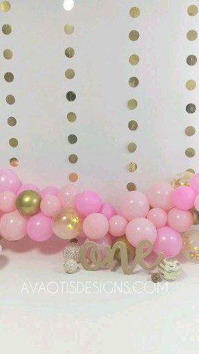 First Birthday Pink Gold Cake Smash Session Setup