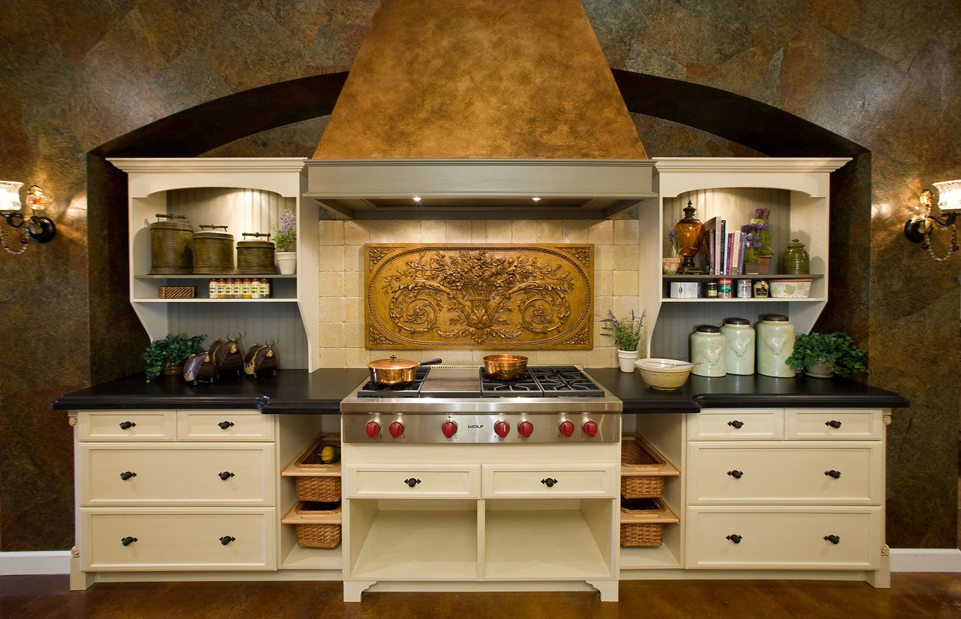 French Country Kitchen with Wolf appliances in our Tampa Showroom ...