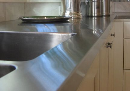 Stainless Countertops Really Give A Kitchen A Gorgeous, Seamless Look.