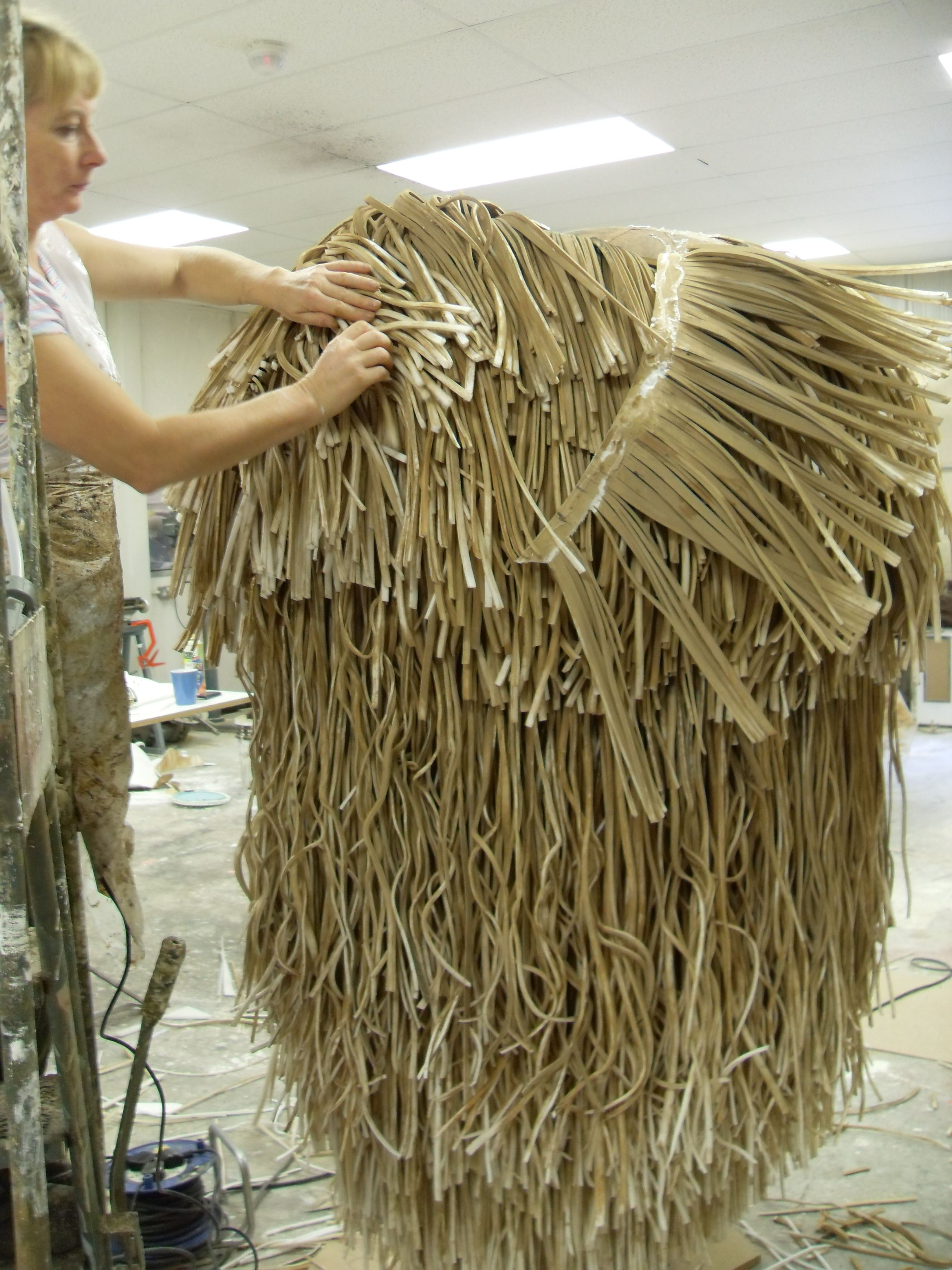 1354cc4ae In order to produce the Giant Mullet costume, a large amount of coiffing  and styling was carried out on the bulk of hair to create the instantly ...