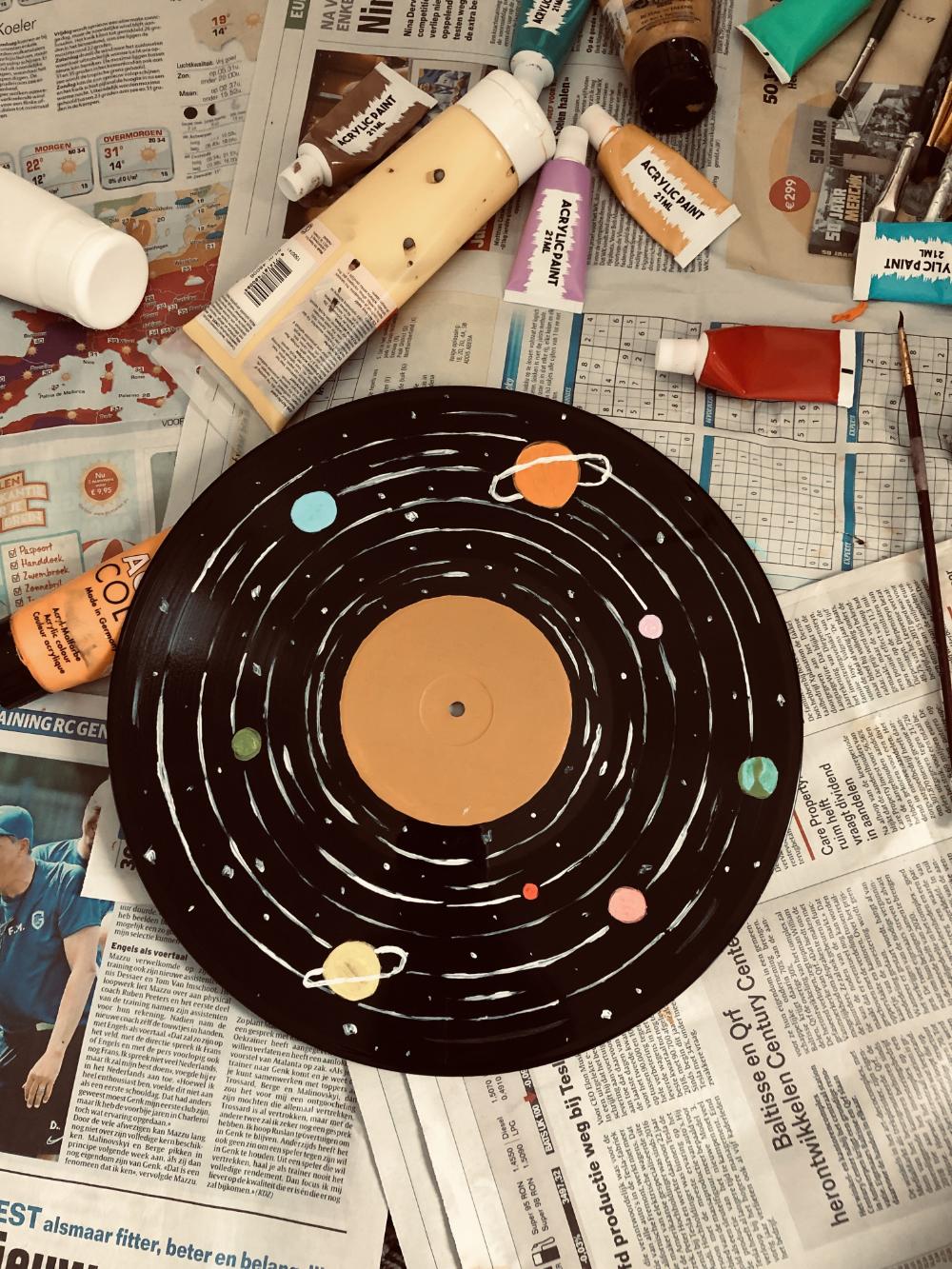 Aesthetic Painted Vinyl In 2020 Vinyl Painted Record Wall Art Vinyl Art Paint