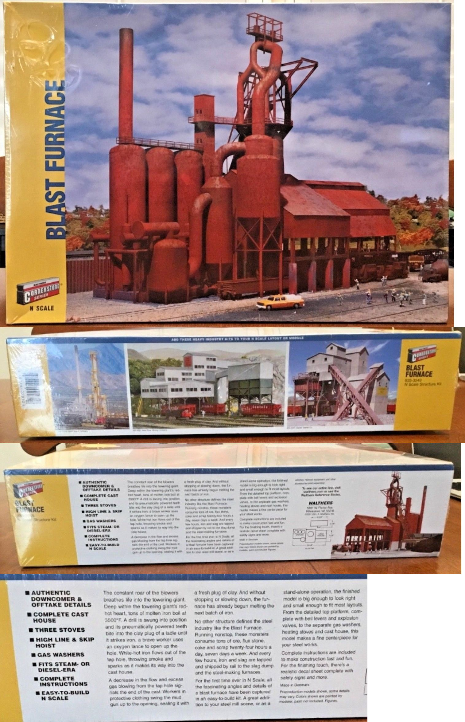 Buildings Tunnels and Bridges 99814: Walthers Cornerstone N Scale