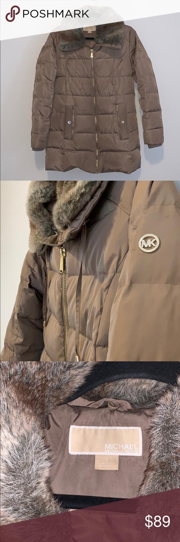 Michael Kors Truffle Faux Fur Puffer Jacket Fashion Faux Fur Puffer Jacket Michael Kors Jackets [ 1740 x 580 Pixel ]