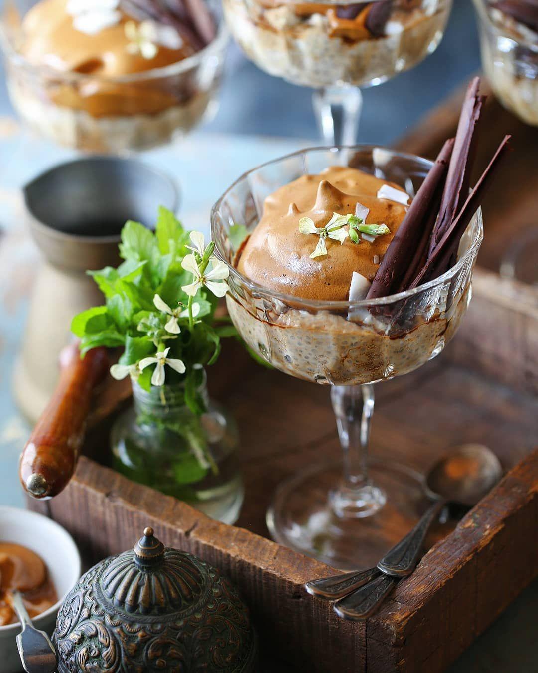 Dalgona Coffee Coconut Chia Pudding grab your coffee fix