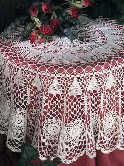 Crochet Enchanted Forest Tablecloth Taplak Meja Rajut Pinterest