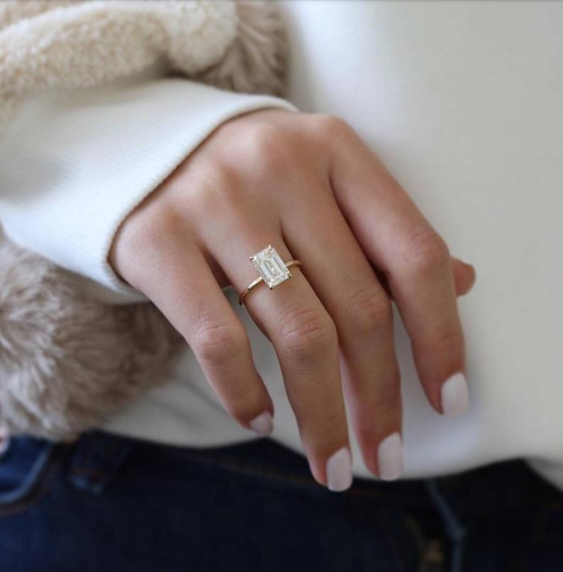 Diamond Engagement Ring, 2.80 Carats Diamond,Emera