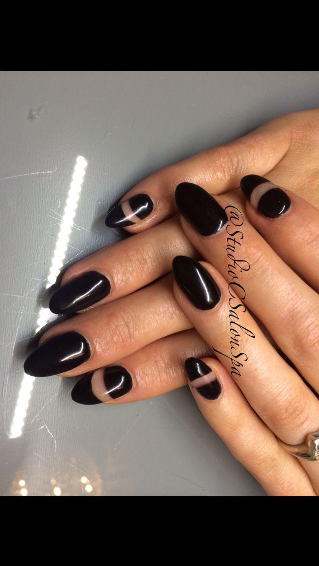 Black Cut Out Nails By Becky Taman Nail Designs Pinterest Nail