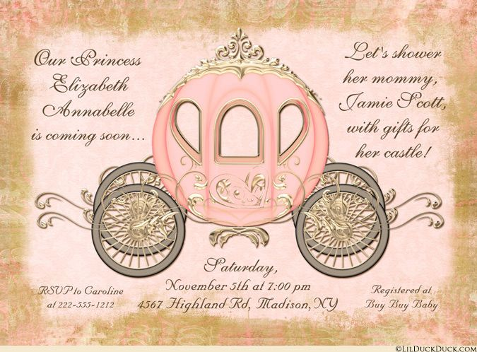 Fairytale coach baby shower invitation princess royal shower vintage coral mommy to bes fairytale shower invitation filmwisefo