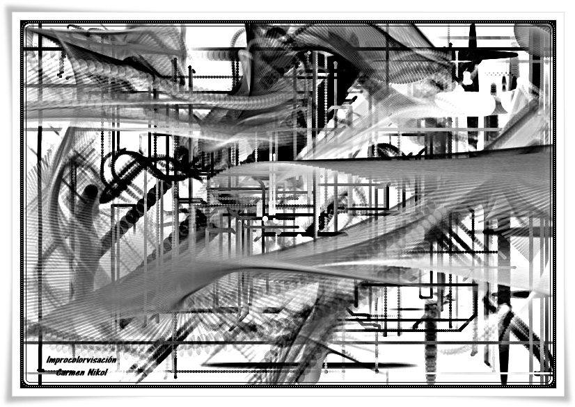Tridiplanos con cola de distancia --- Improcolorvisaciones Carmen Nikol