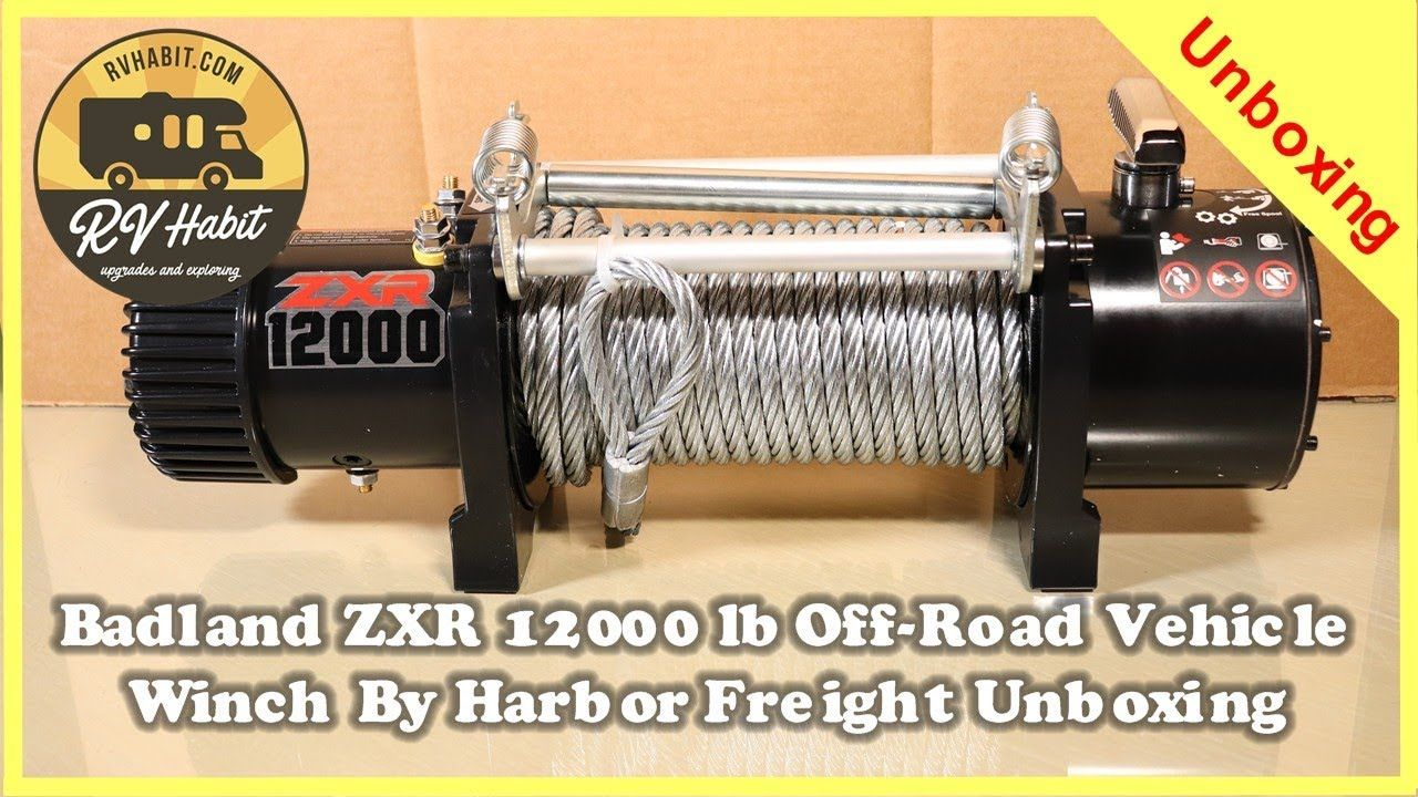 Zxr 12000 Lb Truck Suv Winch With Remote Control And Automatic Brake Offroad Vehicles Winch Electric Winch