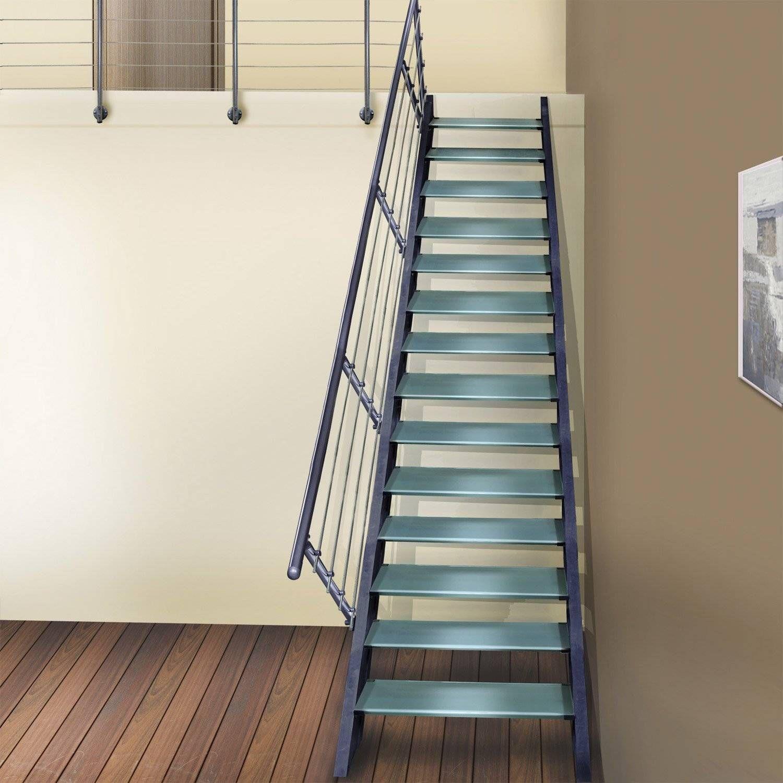 Escalier Exterieur En Kit Leroy Merlin Escalier Droit Lisa Structure Aluminium Marche Verre Home Decor Stairways Stairs