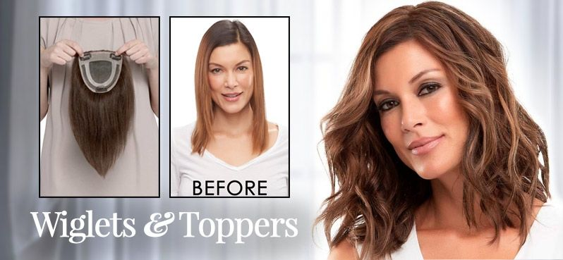 Hair Toppers Wiglets Thinning Hair In Women In 2020 With Images Hair Toppers Hairstyles For Thin Hair Receding Hair Styles