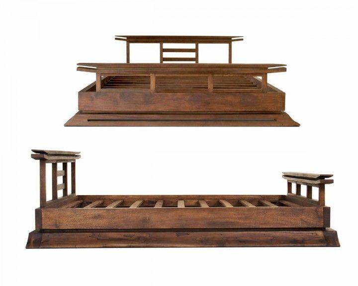 Bedroom Kondo Wood Platform Bed Asian Furniture Interior Ideas