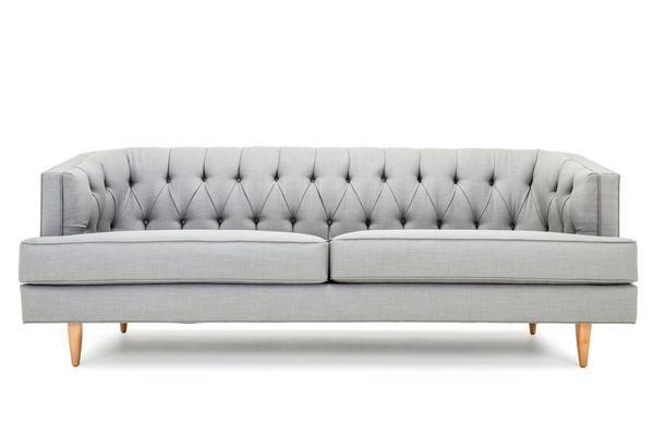 Tremendous Grand Custom Affordable Diamond Tufted Sofa Clad Home Machost Co Dining Chair Design Ideas Machostcouk