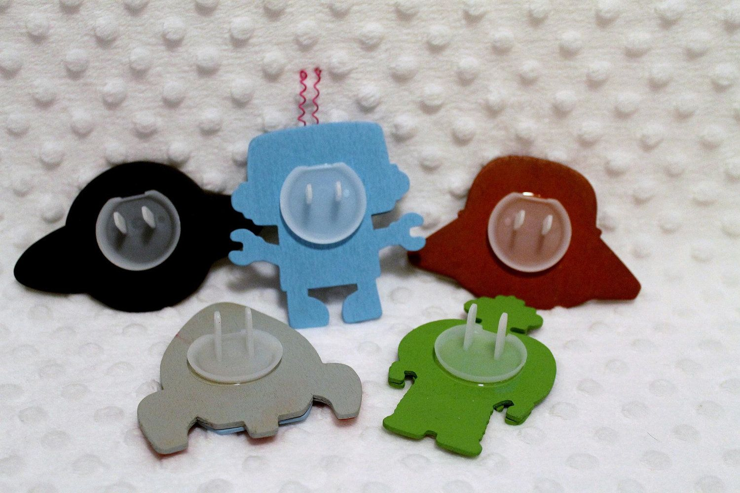 Outlet Decoration Decorative Outlet Socket Covers Robots And Spaceships Set