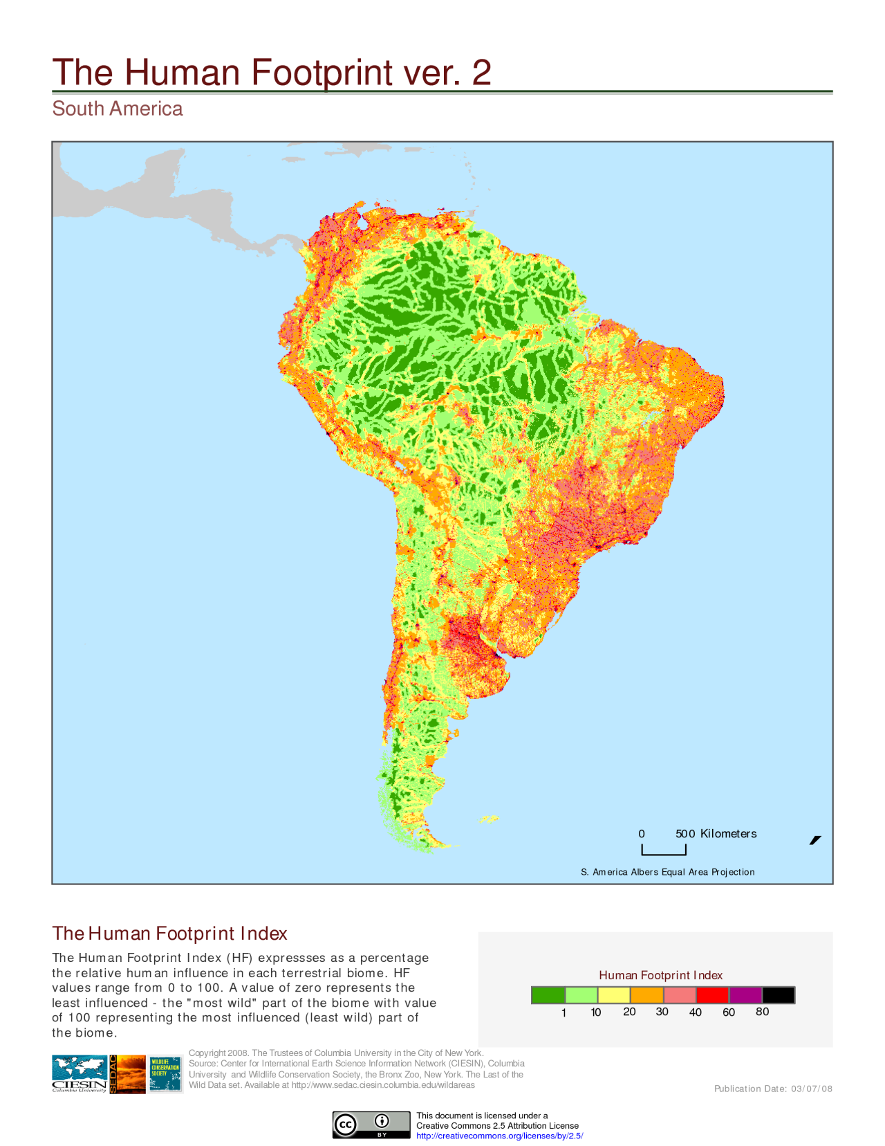 The Human Footprint On South America