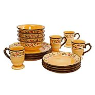 Gibson Heritage Park 16 Piece Stoneware Reactive Glaze Dinnerware Set Light Brown at Kmart.  sc 1 st  Pinterest & Gibson Heritage Park 16 Piece Stoneware Reactive Glaze Dinnerware ...