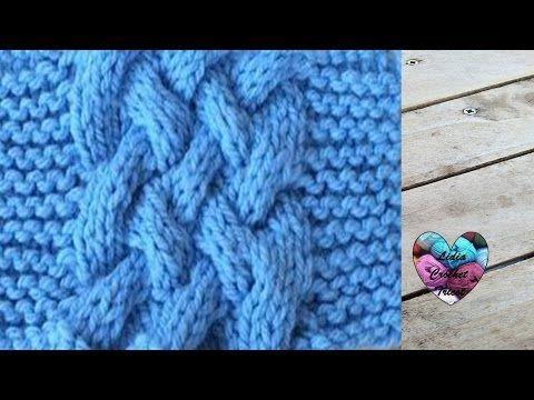 Snood a torsade au tricot / Snood knit - YouTube   TECHNIQUES TRICOT ...