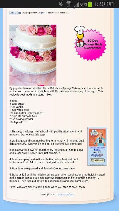 Official Cake Boss Sponge Recipe
