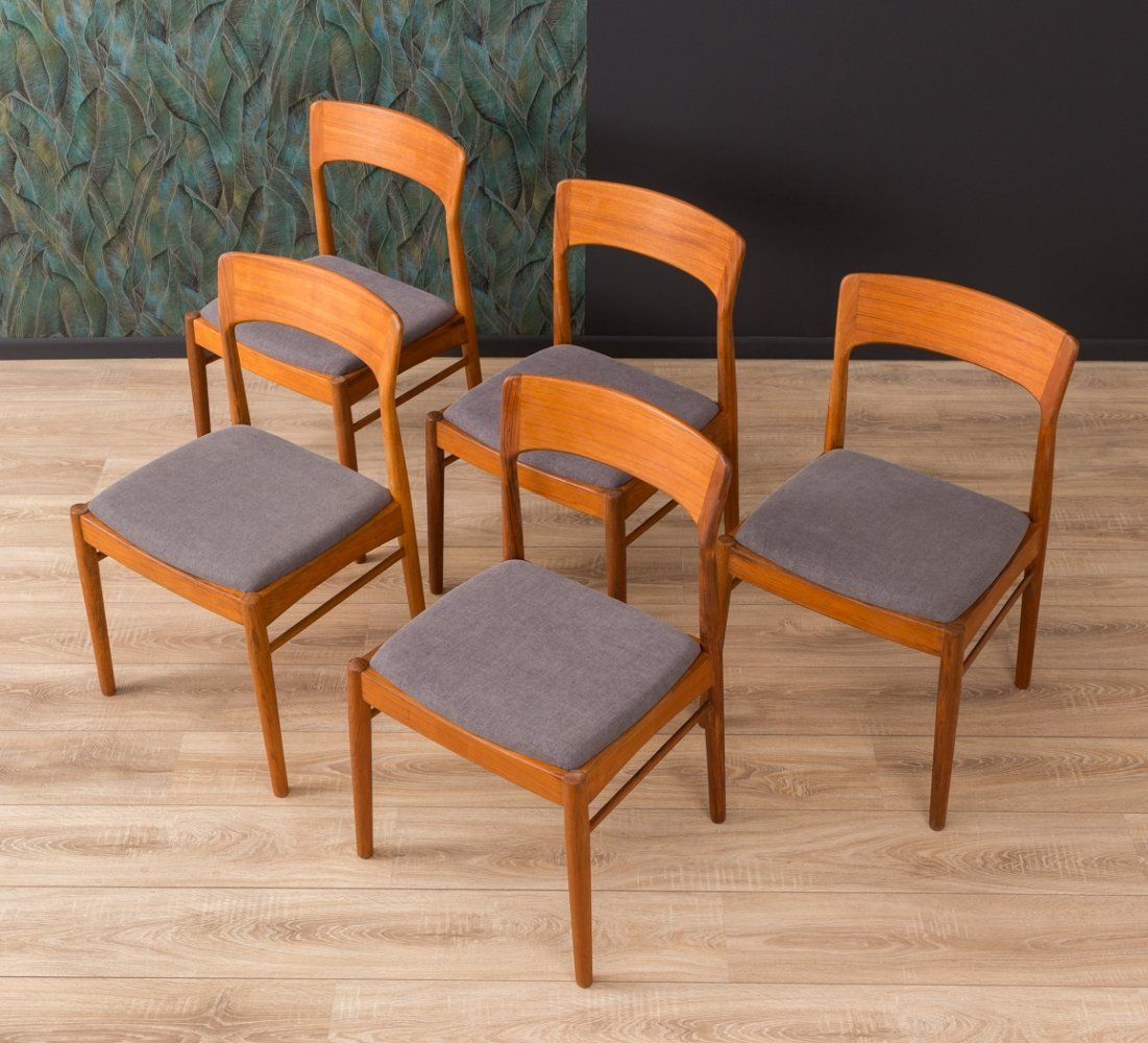 For Sale Set Of 5 Danish Teak Dining Chairs By K S Mobler 1960s Dining Chairs Teak Dining Chairs Chair