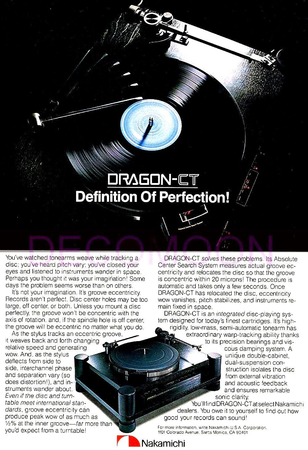 AllegroSound * Nakamichi Dragon-CT Centering Turntable
