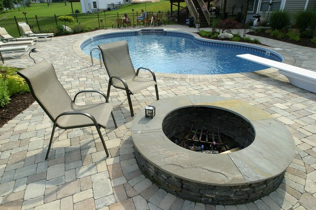 Paver and concrete around pool pool patio 1024x682 set your landscape and swimming pool areas - Swimming pool patio designs ...