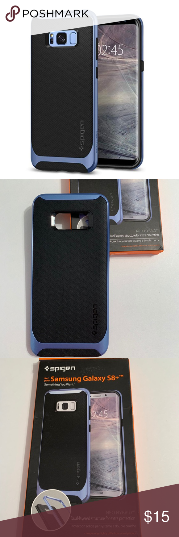 finest selection 73a12 851f8 Spigen Hybrid Samsung Galaxy S8 Plus Case S 8 + 8+ Sells for 15.99 ...