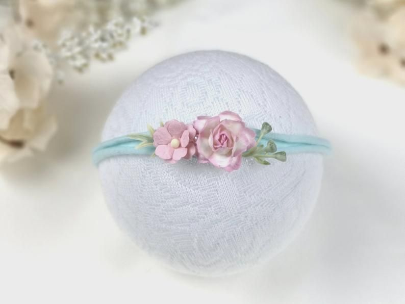 Photo of hair band, flower band, newborn photo shoot, prop