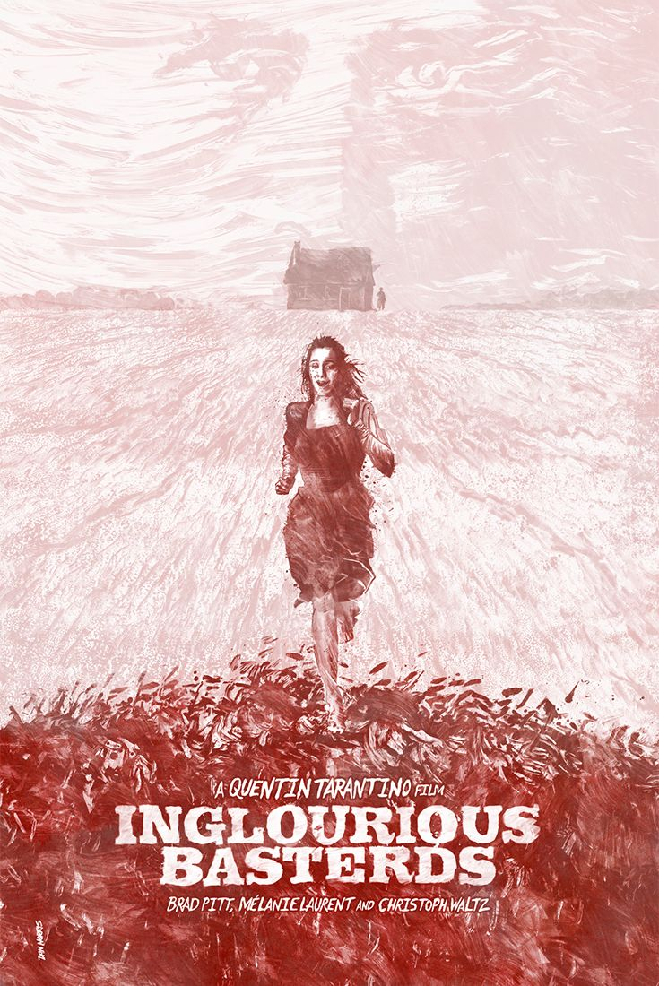 Inglourious Basterds - by London based Illustrator & Graphic Artist Daniel Norris | Drama, Action Movie Poster.