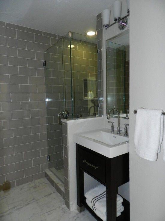 Small Bathroom Gray Floor: Inspiring Ideas For Really Small Bathroom Ideas Glass
