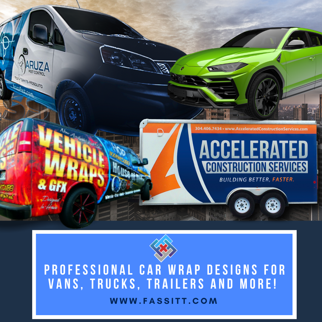 Creative Solutions To Improve Your Business Professional Car Wrap Designs For Vans Trucks Trailers And More W In 2020 Car Wrap Virtual Assistant Services Car