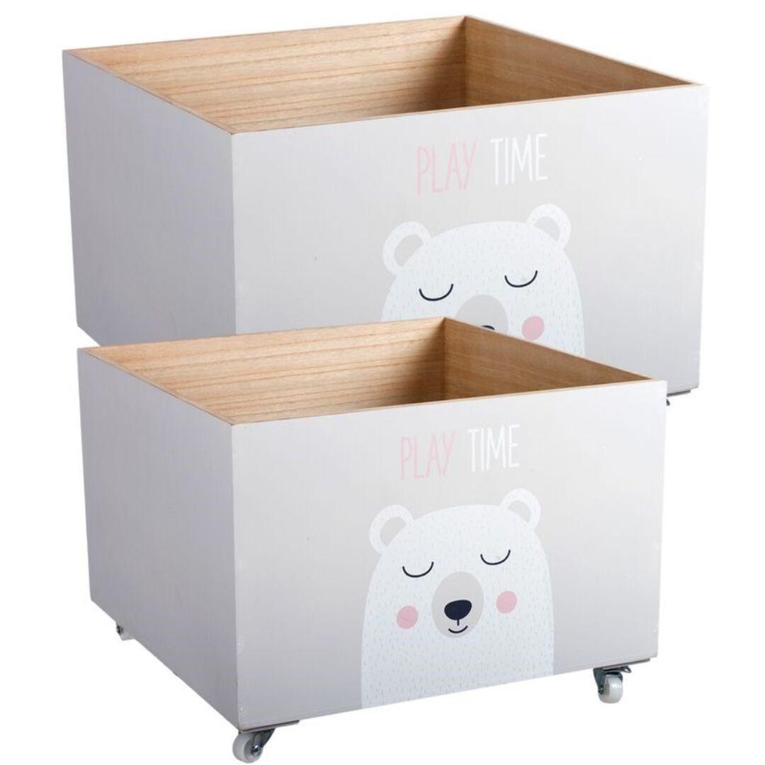 Cajas de madera infantiles para almacenaje deco kids for Muebles de madera para ninos