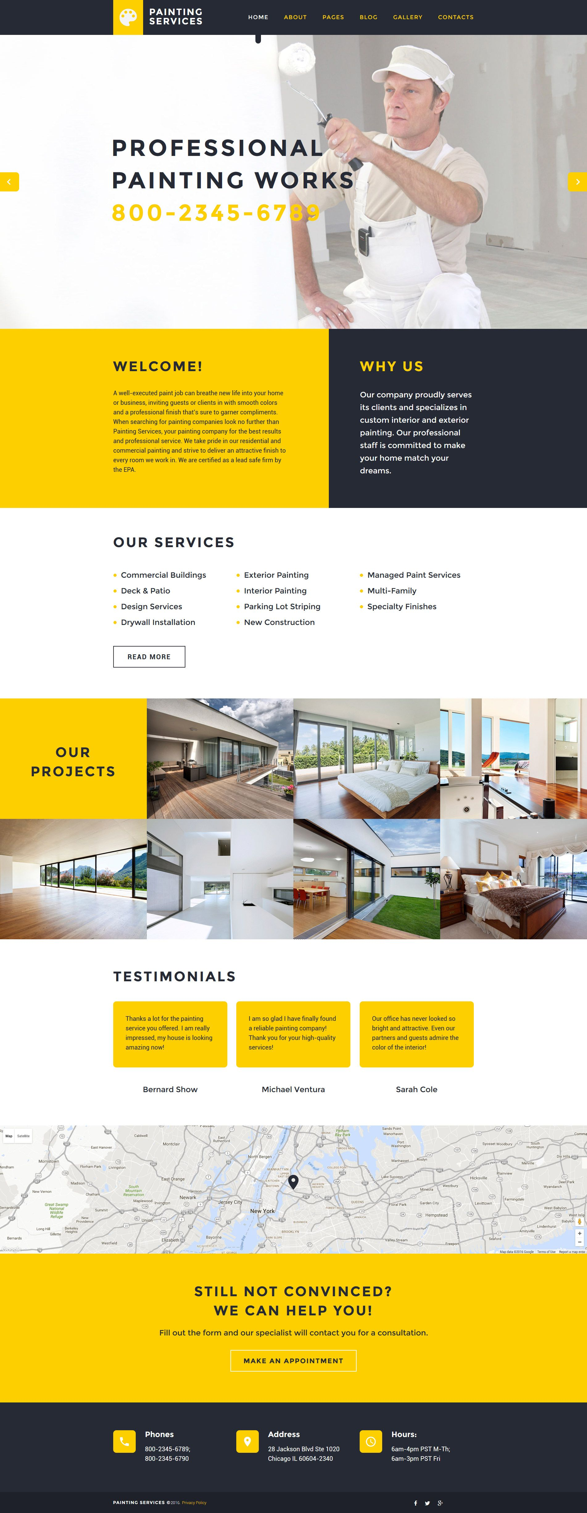 Painting Services Joomla Template Http Www Templatemonster Com Joomla Templates Painting Services Joomla Template 58266 Html