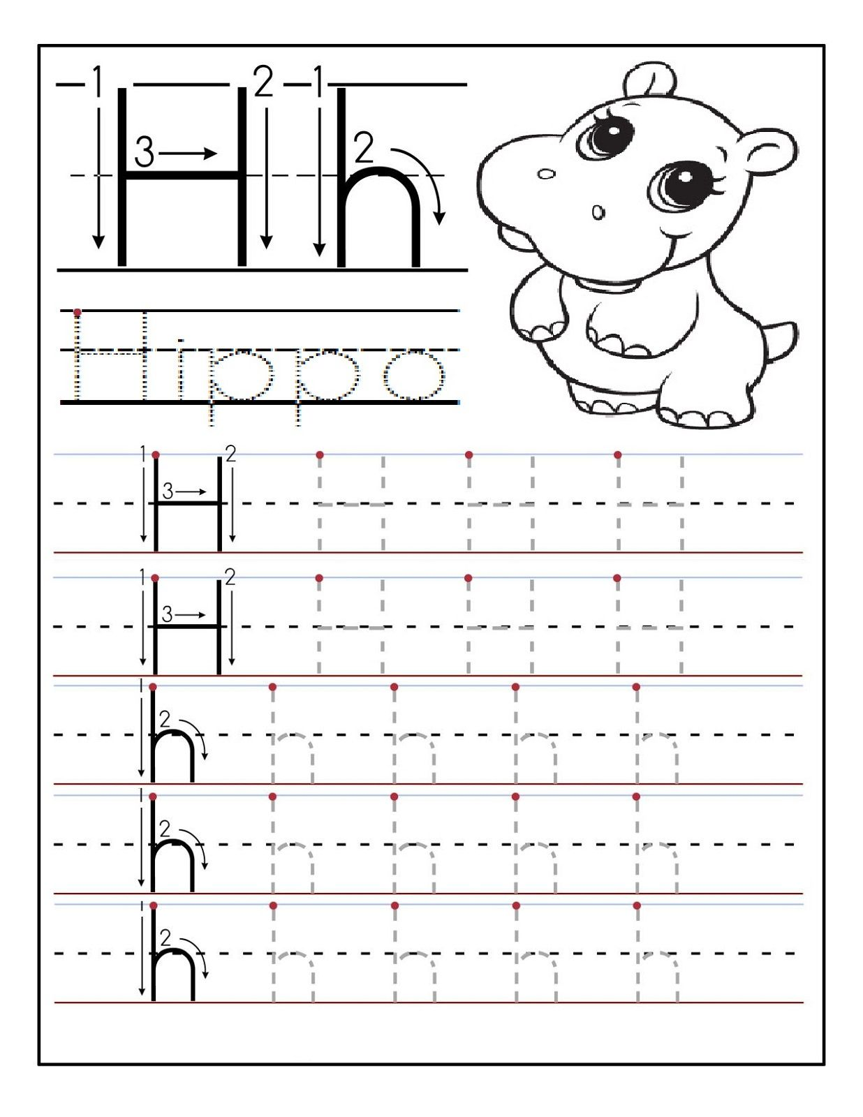 Preschool Alphabet Worksheets Hippo