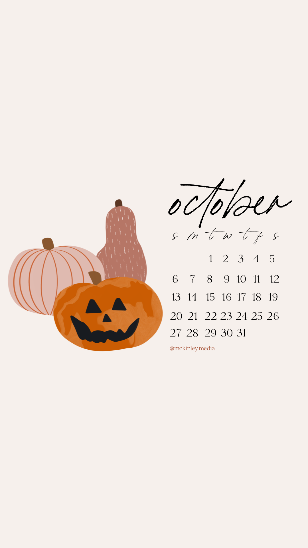 October, October calendar 2019, iPhone calendar, iPhone