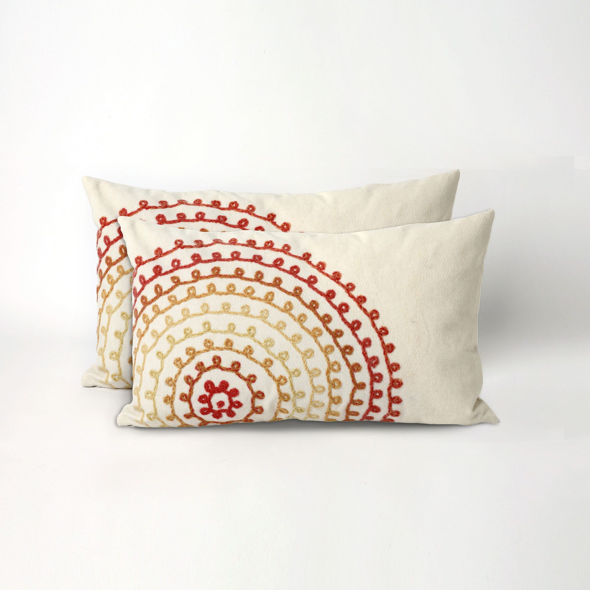 Add a stylish pop of color to your home with the Concentric Circles 20-inch Throw Pillow. These pillows feature a unique pattern with bright, warm colors that are sure to look great in your home.