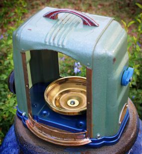 Space heater up-cycled into a bird feeder!