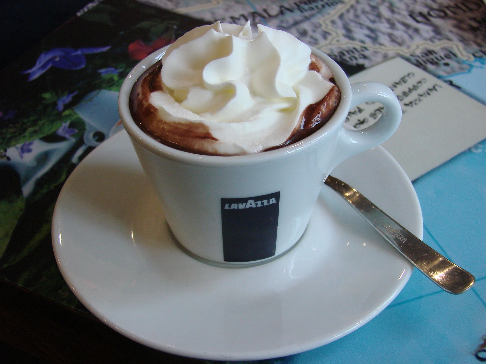 Eataly's Hot Chocolate ~A Concoction called Bicerin: parts thick hot chocolate, espresso & a cool layer of heavy cream. Heaven.
