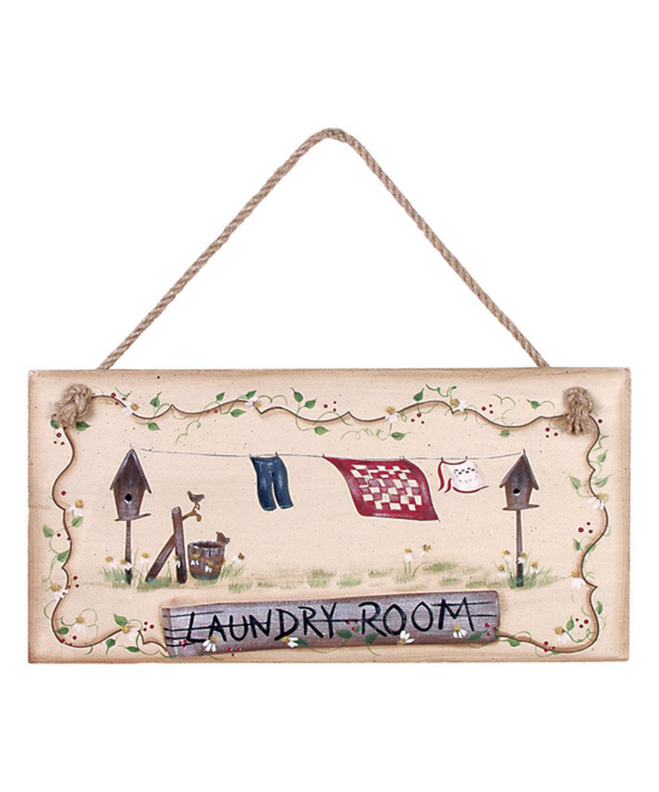 Laundry Room Wall Plaques Best Another Great Find On #zulily Chamomile 'laundry Room' Wall Sign Inspiration Design