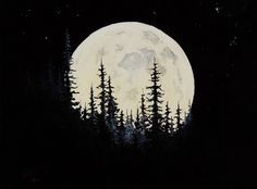 mountains moon cycle painting - Google Search