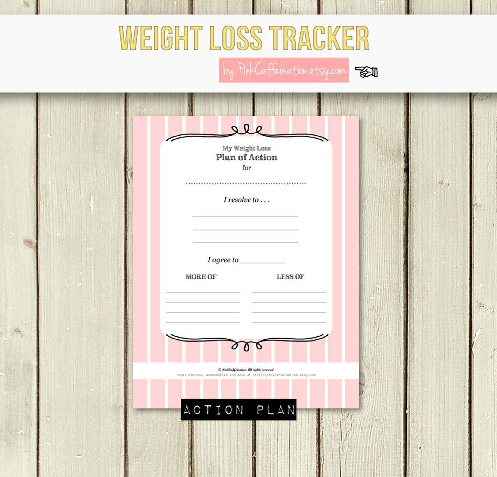 Make Your Own Customized Weight Loss Journal Diet Fitness