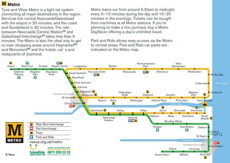 Newcastle metro map | Maps | Pinterest | Newcastle and City