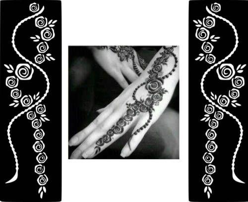 Henna Mehndi Stickers : Popular henna mehndi design vinyl decal sticker stencil