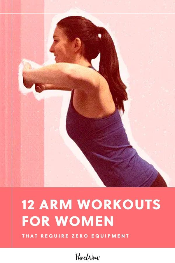12 Arm Workouts for Women That Require Zero Equipment #purewow #fitness #workout #health #wellness