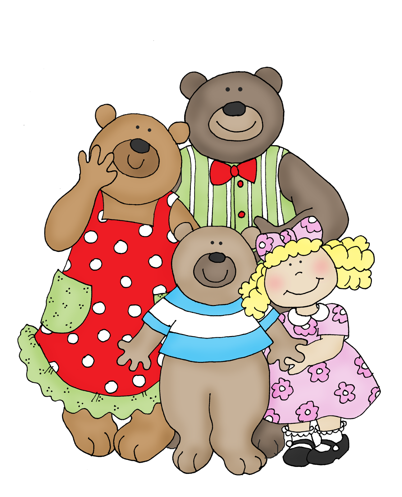goldilocks and the three bears house mouse in color for card rh pinterest com free clipart goldilocks and the three bears goldilocks clipart free