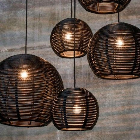 dark sangha 50 pendant lighting black | blush lighting | pinterest, Deco ideeën